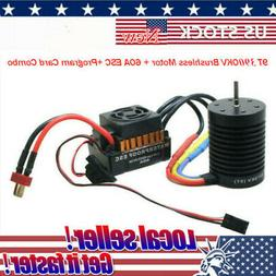 Waterproof  Brushless 3900KV Motor Combo Set Fit RC Car 35A