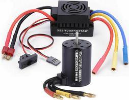 3650 3900KV Brushless Motor with 60A ESC Combo Sets for 1/10