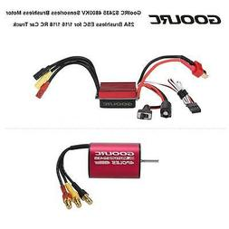4800KV Brushless Motor&25A ESC Combo Set for 1/16 1/18 RC Ca