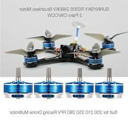 4PCS SUNNYSKY R2305 2480KV CW CCW 3-4S Brushless Motor for 2