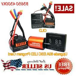 B3650 4300KV Brushless Motor+60A ESC +Program Card Combo For