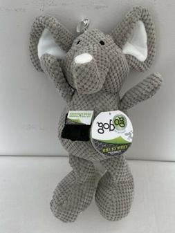 GO DOG Checkers Elephant for Dog Toy Chew Guard Technology