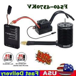 F540 4370KV Waterproof Brushless Motor W/ 60A ESC Program Ca