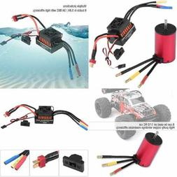 RC Brushless Motor Combo Waterproof W 60A ESC Electronic Spe