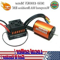Waterproof 3650 4300KV Brushless Motor + 60A ESC Combo Set f