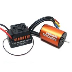 3650 4300KV Waterproof Brushless Motor & w/ 60A ESC Combo fo