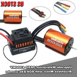 Waterproof 3650 4300KV Brushless Motor w/ 60A ESC Combo for