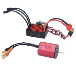 Waterproof Motor & Brushless ESC Combo Set for 1/18 1/16 RC